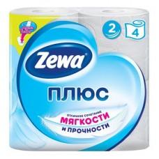 Бумага туалетная Zewa Плюс 2-ух слойная Белая №4