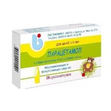 Парацетамол  свечи 0.1г N10