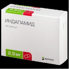 Индапамид  2.5 мгх30 капс