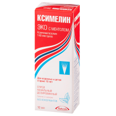 Ксимелин Эко аэрозоль 0.1% - 10 мл ментол