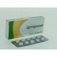 Цетиризин  таб. п/о 10мг №10