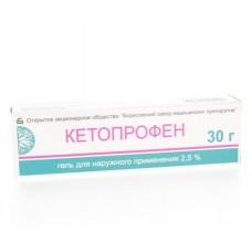 Кетопрофен гель  туба 2,5% 30г