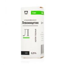 Левомицетин  фл. 0,25% 5мл (гл. капли)