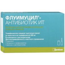 Флуимуцил антибиотик ит 500мг фл. х3+р-ль б м