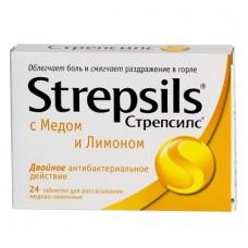 Стрепсилс  таб. д/рас. №36 (мед-лимон)