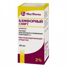 Камфорный спирт  фл. 2% 40мл