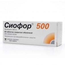 Сиофор-500  таб. 500мг №60